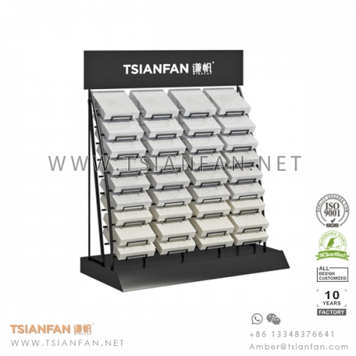Metal Artificial Stone Tabletop Display Rack for Quartz Sample