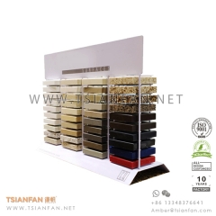 Metal Wire Stone Marble Counter Display for Marketing Promotion