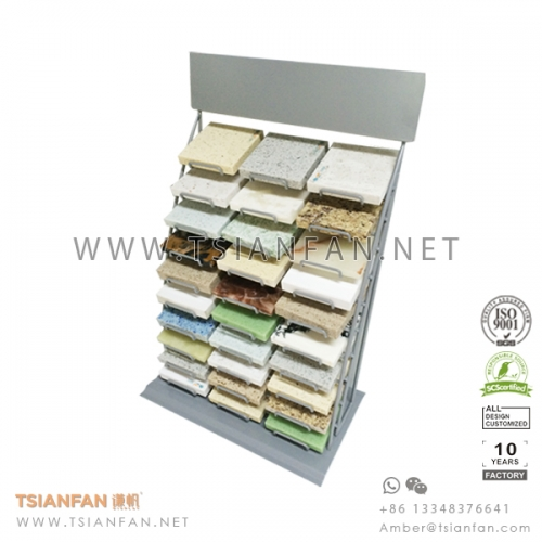 Metal Wire Table Display for Stone Marble Sample Chips
