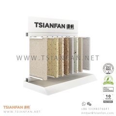 Metal Wing Quartz Surface and Granite Stone Table Rack for Sample