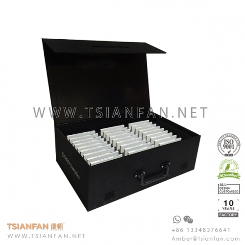 Custom Artificial and Quartz Stone Sample Box Manufacturer in China