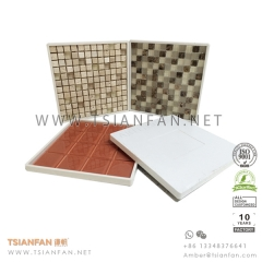 Plastic Marble Mosaic Tile Dipslay Panel