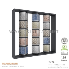 Rotating Mosaic Tile Sample Display Shelf