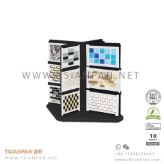 Spinning Tile Table Display Stand for Mosaic and Stone