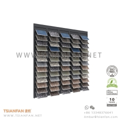 High Capacity Mosaic Tile Sample Display Wall