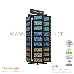 High Capacity Stone Mosaic Tile Display Rack