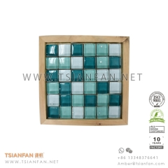 Real Wood Stone Mosaic Tile Display Board