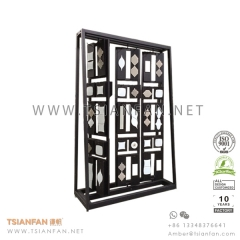 Spinning Stone Mosaic Tile Display Stand for Exhibition