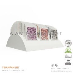 MDF  Mosaic Tabletop Display , Tile Slot Stand for Tile Cards