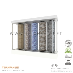 Rotating Penal Stone Mosaic Tile Display Rack
