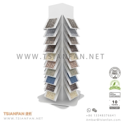 Rotating Mosaic Tile Display Tower