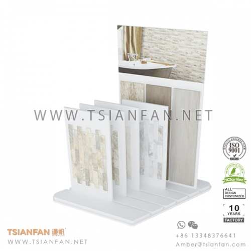 MDF Porcelain and Mosaic Tile Desk Display Stand