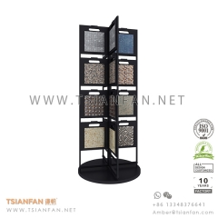 Rotary Mosaic Tile Display Tower