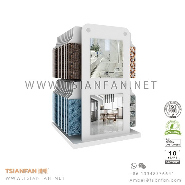 Tile Table Display Stand , Mosaic Counter Rack