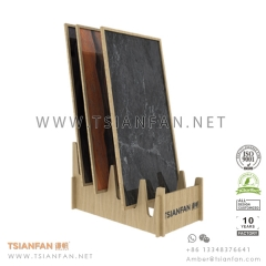 Wood Showroom Porcelain Tile Display Stand