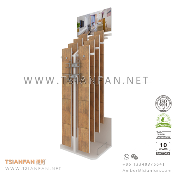 Custom Metal Wood Floor Tile Sample Display Stand for Showroom