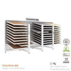 Showroom Horizontal Sliding Stone Tile Display Rack