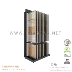 Porcelain Tile Wing Display Rack for Ceramic Tile Showroom