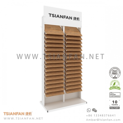 Waterfall Floor Tile Sample Display Rack