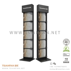 Metal Quartz surface tower display stand for Showroom