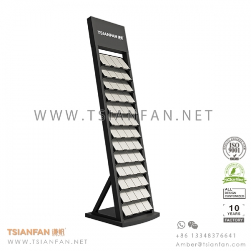Metal Sheet Granite and Marble Stone Promotion Display Tower