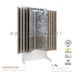 Ceramic Tile Display Stand for Showroom , Custom Tile Display Rack