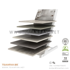 Showroom Ceramic Flooring Tile Display Rack