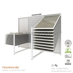 Showroom Horizontal Sliding Ceramic Tile Display Idea