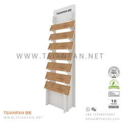 Waterfall Wood Flooring Tile Exhibition Display Stand