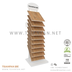 Wooden Flooring Tile Display Tower