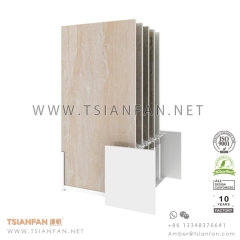 Sliding Porcelain Tile Showroom Display Rack