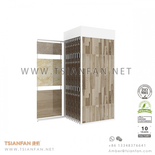 Sliding Ceramic Tile Showroom Display Idea