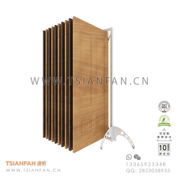 Wing Ceramic Flooring Tile Sample Showroom Display Rack