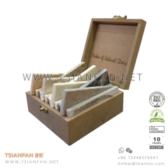 Real Wood Granite and Marble Stone Sample Display Box