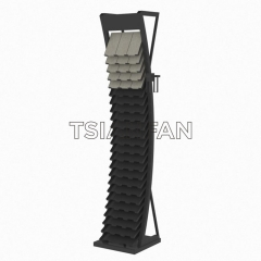 Curved Wall Tile Display Rack Metal Floor Display Rack