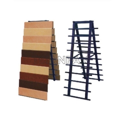 Blue Metal Display Stand For Marble Tile Display